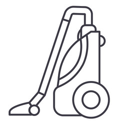 vacuum cleaner line icon sign vector image vector image