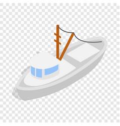 Yacht isometric icon vector