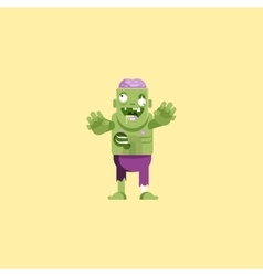zombie character with brains for vector image