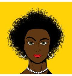 Pop Art style black girl vector image