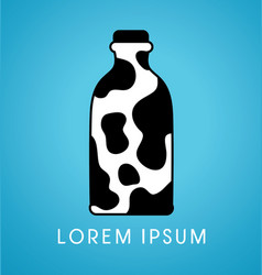 Milk bottle graphic vector
