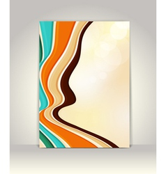 Flyer or brochure template abstract retro design vector image