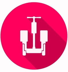 Circle pink icon for alternative transport for vector