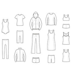 Sport clothes vector