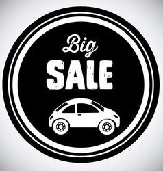 Sale car design vector