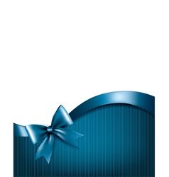 Holiday blue background with red gift glossy bow vector image