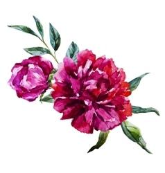 Nice watercolor flowers vector