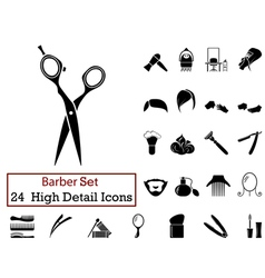 Icon set barber vector