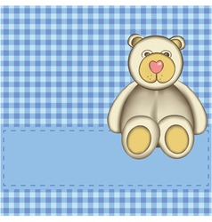 bear for baby boy vector image