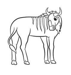 Gnu outlined vector