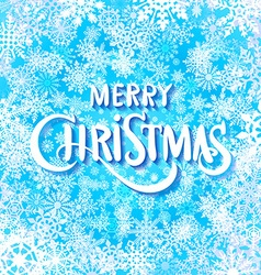 Merry christmas handwritten text on background vector