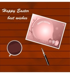Congratulations on easter vector