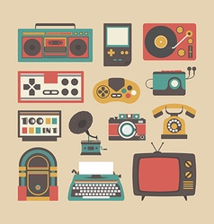226retro equipment vector