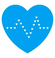 Dotted heart pulse flat symbol vector