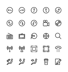 User interface colored line icons 25 vector
