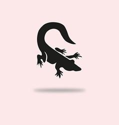 alligator symbol vector image vector image