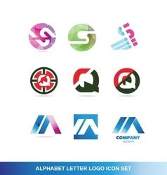Alphabet letter logo icon set vector image vector image