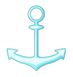 Anchor icon cartoon style vector