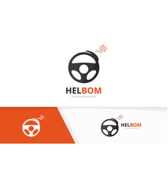 Car helm and bomb logo combination vector