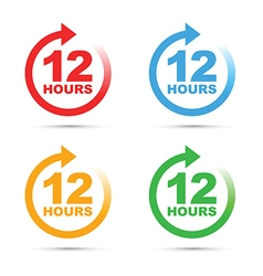 colour set 12 hours vector image vector image