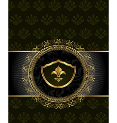 cute background with heraldic element - vector image vector image