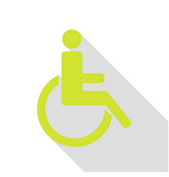 Disabled sign pear icon with flat vector