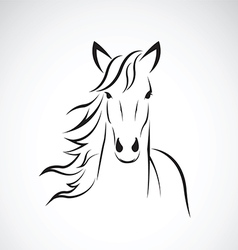Image of a horse head design vector