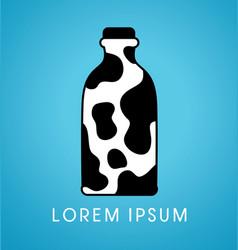 Milk bottle graphic vector
