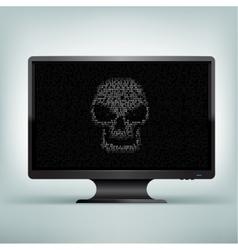 Monitor code skull vector