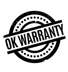 ok warranty rubber stamp vector image vector image