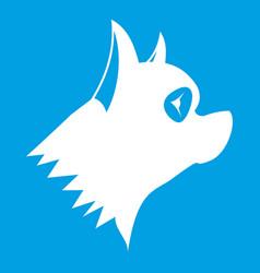 Pinscher dog icon white vector