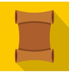 Scroll icon flat style vector image vector image