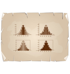 Set of normal distribution or gaussian bell on old vector