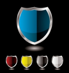 shield five variation vector image vector image