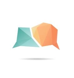 Speech bubble icon abstract vector image