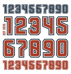 Sport numbers with contour vector
