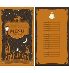 star menu vector image vector image