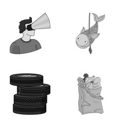 technology game and other monochrome icon in vector image