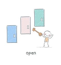 The key opens the door vector image vector image