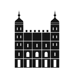 Tower of London in England icon simple style vector image vector image