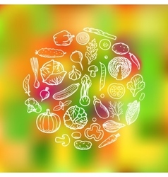 Vegetable Doodle Set vector image vector image