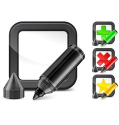 voting button icons pen vector image