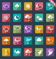 weather icons- flat design vector image vector image