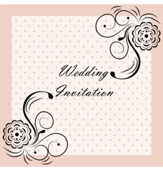 Wedding invitation with ornaments vector