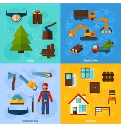 Woodworking Industry Set vector image