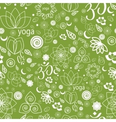 Yoga Labels and Icons seamless pattern vector image vector image