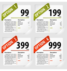 Options frames vector