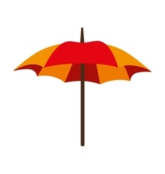 Umbrella parasol open striped icon vector