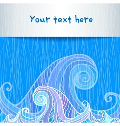 Blue and violet waves background vector