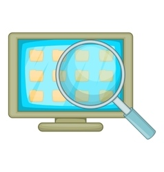Desktop folders icon cartoon style vector